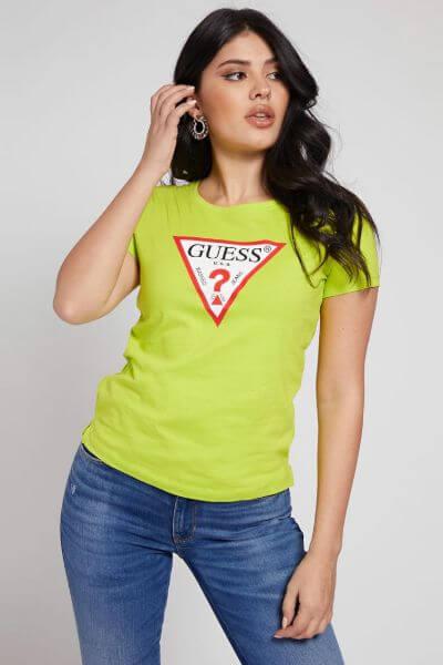 Guess Original Triangle Logo Lime