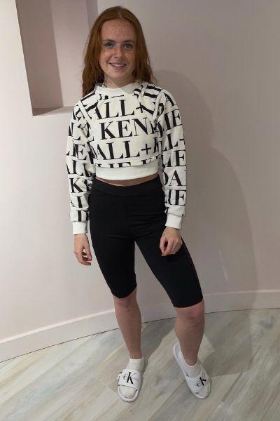 Kendall & Kylie Mesh Bicycle Shorts Black