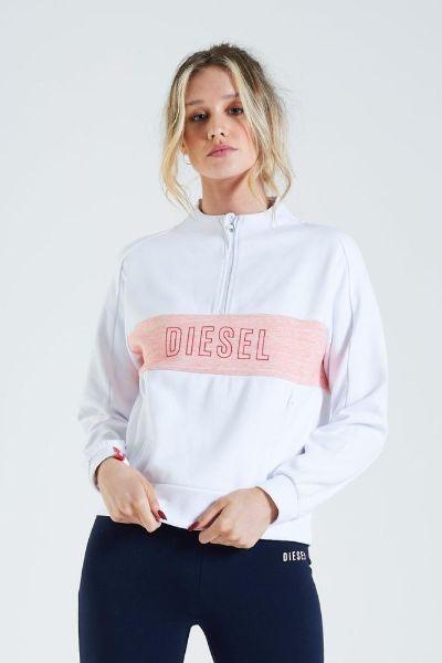 Diesel Tiffany Half Zip Sweater White