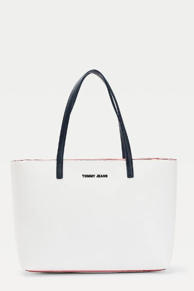 Tommy Hilfiger Contrast Trim Tote White