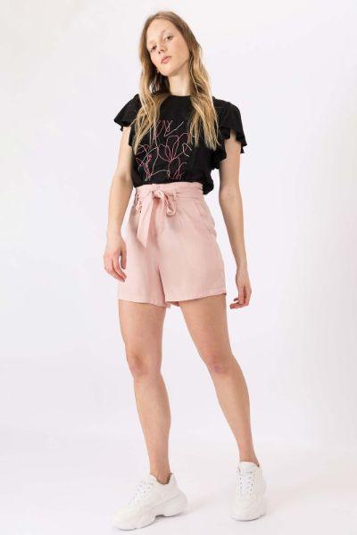 Tiffosi BowTie Waist Shorts Pastel Pink