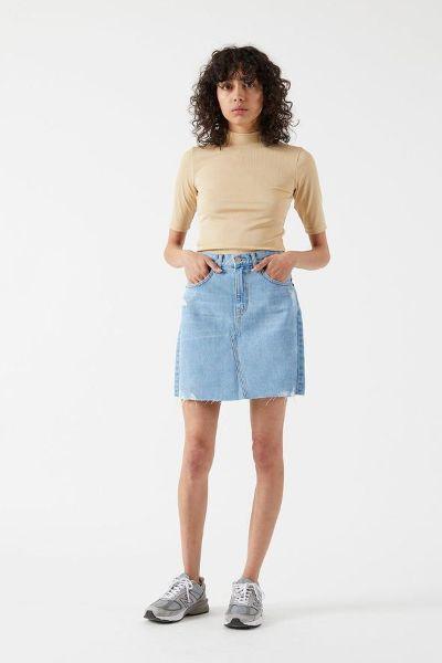 DR.Denim Echo Skirt Light Blue