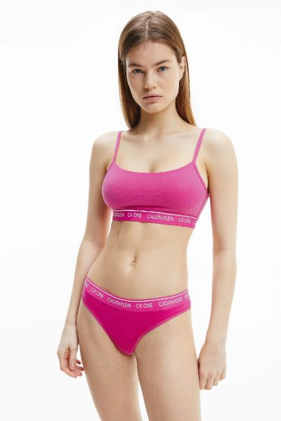 CK One Unlined String Bralette Party Pink