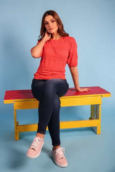 Rant And Rave Helen Jumper Coral