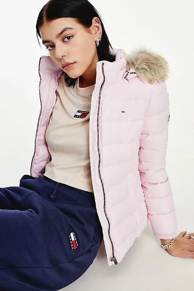 Tommy Hilfiger Hooded Down Jacket Romantic Pink