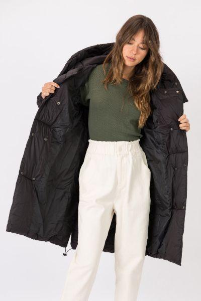 Tiffosi Bayawan Oversized Puffer Jacket Black