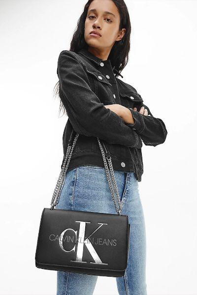 Calvin Klein Convertible Chain Crossbody Bag Black
