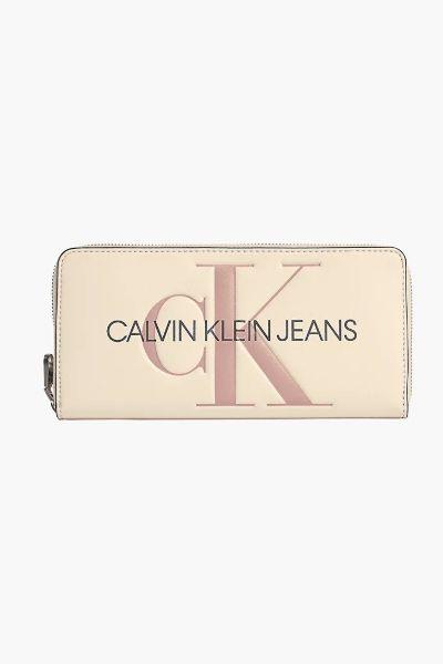 Calvin Klein Zip Around Wallet Muslin