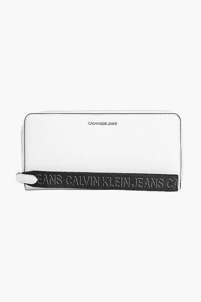 Calvin Klein Zip Around Wallet/Wristlet White