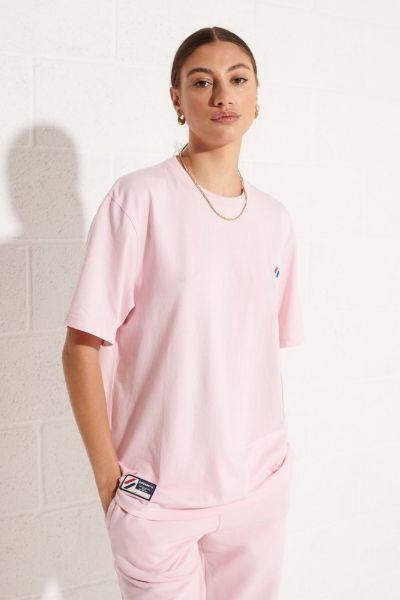 Superdry Code Essential Oversized Tshirt Pink