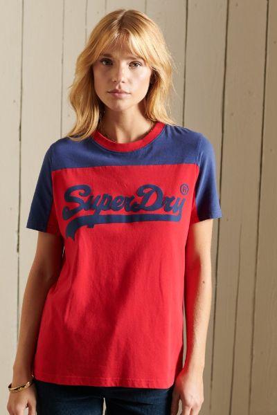 Superdry American Classic Colourblock Tshirt Red