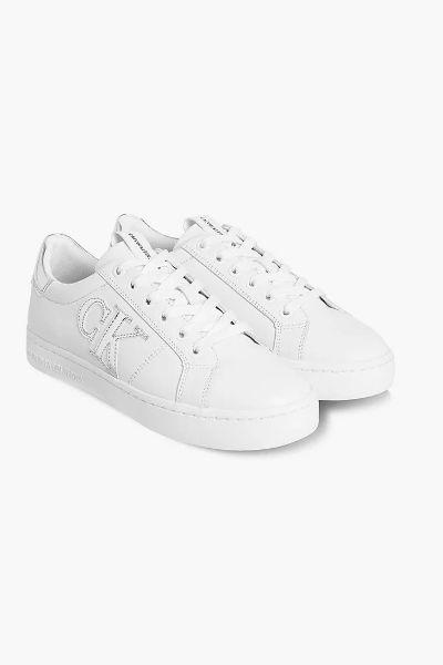 Calvin Klein Metallic Logo Sneakers White