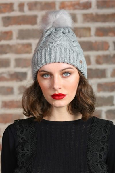 Rant And Rave Mable Cable Hat Grey