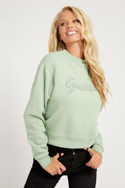 Guess Aureliana Embroidery Sweater Green